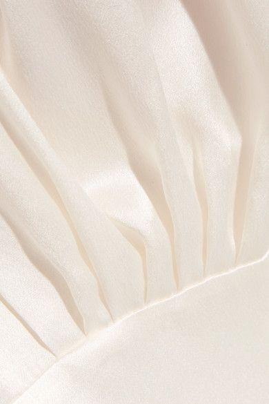 Hillier Bartley - Plimpton Silk-satin Top - Cream - UK