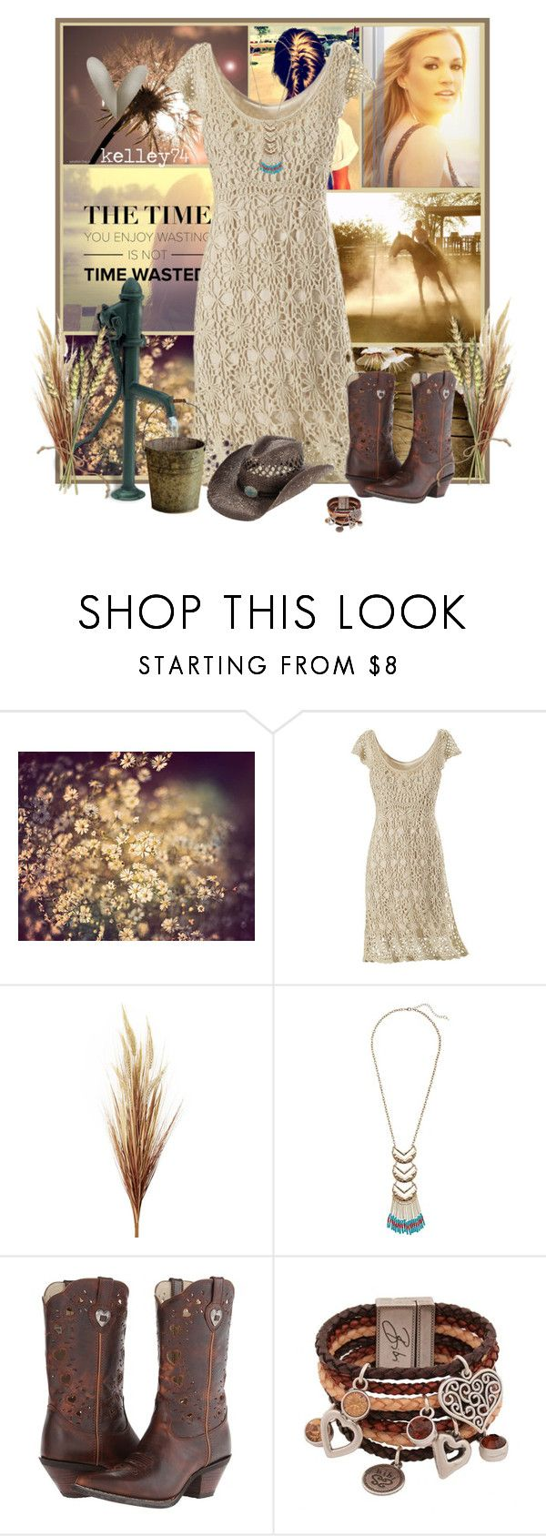 """""""Country Crochet"""" by kelley74 ❤ liked on Polyvore featuring Shabby Chic, Gabriella Rocha, Durango, Bibi Bijoux, Dorfman Pacific and country"""