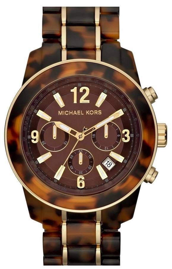 LOVE! Michael Kors Tortoise Shell Watch
