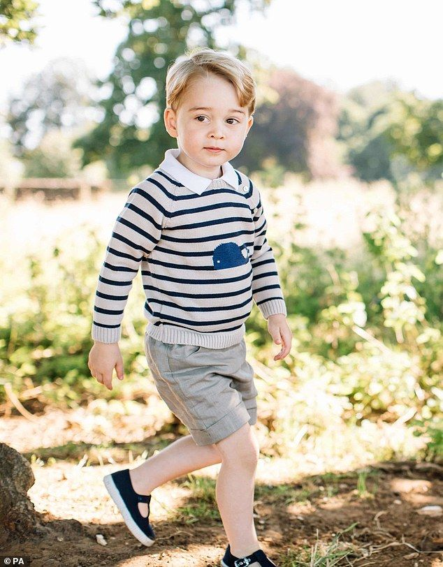'Far too spoilt' Prince William made it clear that George, who turned three last Friday ha...