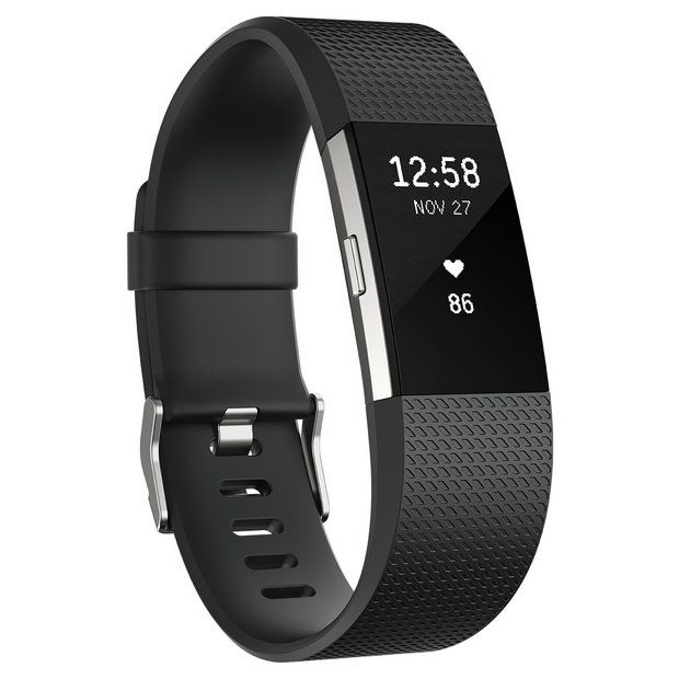 Buy Fitbit Charge 2 HR + Fitness Small Wristband - Black at Argos.co.uk - Your Online Shop for Fitness and activity trackers, Fitness technology, Fitness equipment, Sports and leisure.