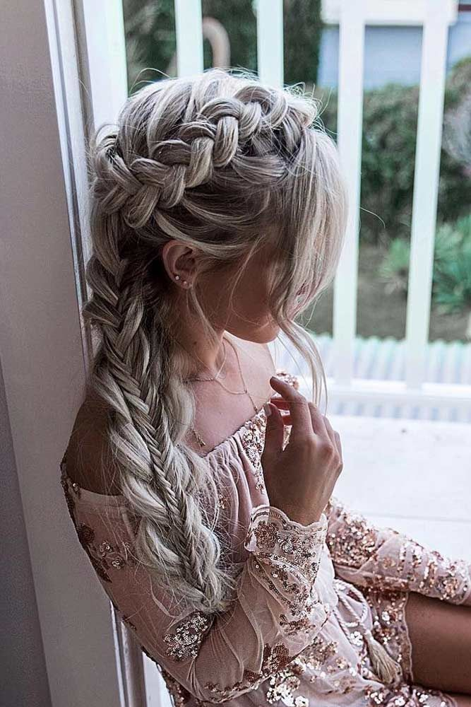 Romantic Braided Hairstyles For Valentine S Day See More Lovehairstyles Co Side Braids For Long Hair Romantic Braided Hair Gorgeous Braids