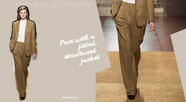 Nothing lasts forever. But just because it's from last season doesn't mean you can't bring it back.   2014 Trend: Wide leg trousers Best for: Inverted Triangle or Hourglass Shape.