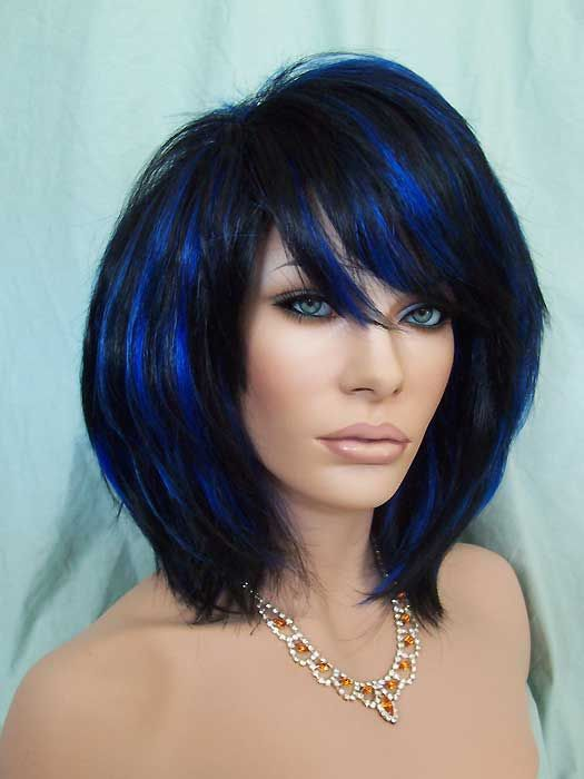 Light Brown Hair With Blue Highlights Blonde With