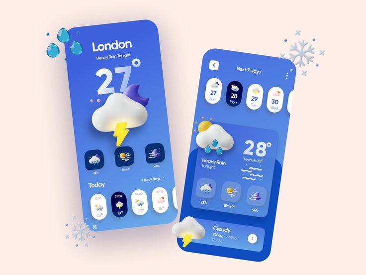 - c6ccb307d2608f09b39b0edabb9c4536 - Weather App Design designed by Hadi Altaf 🐲 for ConvrtX. Connect with them on Dribbble; the global community for design…