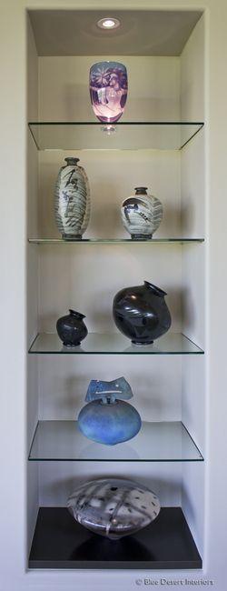 modern-custom-home-entertainment-center-drywall-lacquer-paradise-valley-designer-glass-shelves-after-detail
