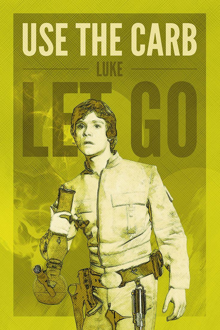 Luke Skywalker Estampe affiche de guerres Bong par Redfunkovich