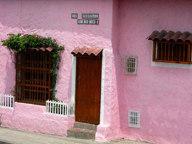 Pink House in Cartagena, Colombia