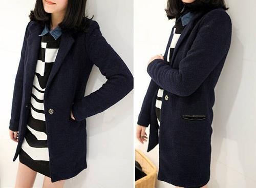 Пиджаки длинные синие