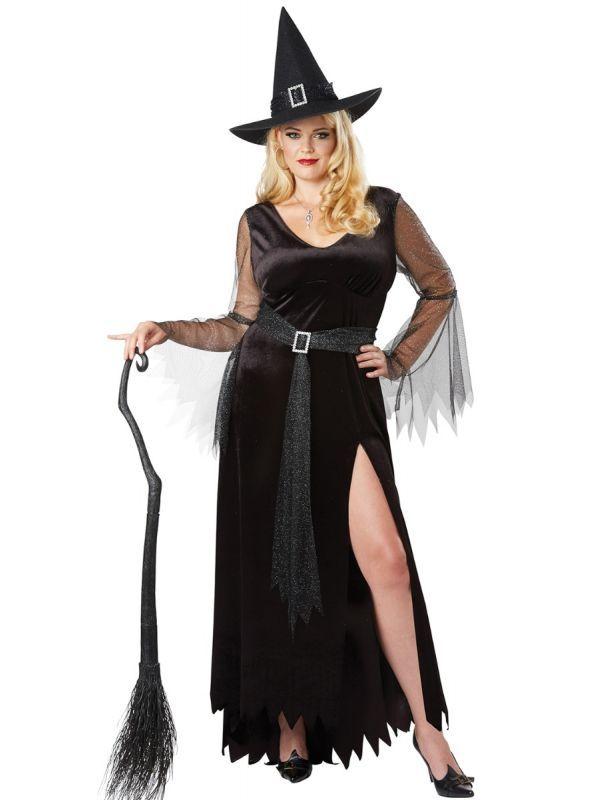11a0b1385aa Women s Black Plus Size Women s Rich Witch Halloween Fancy Dress Costume  Main Image