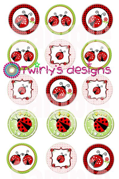 Ladybugs Bottle Cap Images Emailed