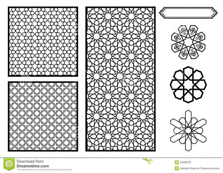 Islamic Patterns Vector | Traditional Middle Eastern / Islamic Patterns - Vector.