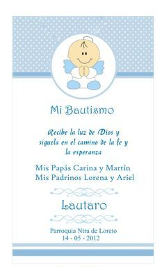 Estampitas bautismo para imprimir - Imagui