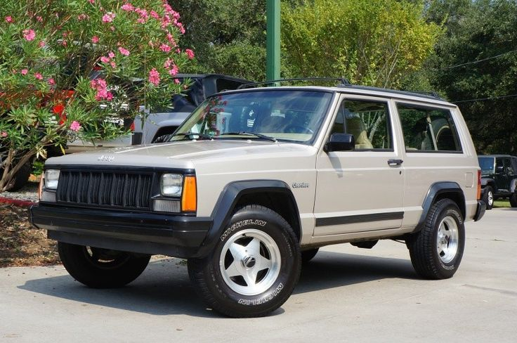 1995 Light Pearlstone Pearl Metallic Jeep Cherokee 2dr
