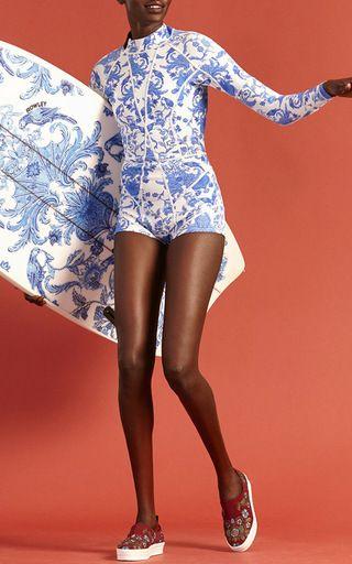 China Print Wetsuit by Cynthia Rowley | Moda Operandi