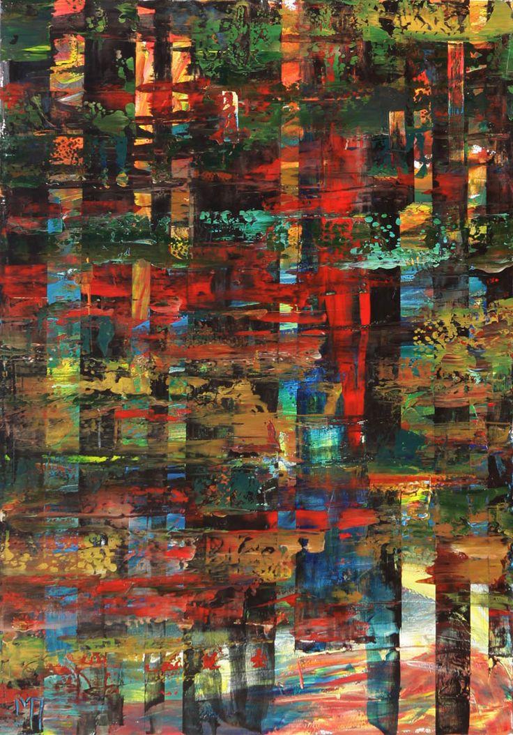 Manolis Pentes 'Wandering' 2016 acrylic 100X120cm