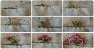 Üç yapraklı çiçek oyası yapılışı