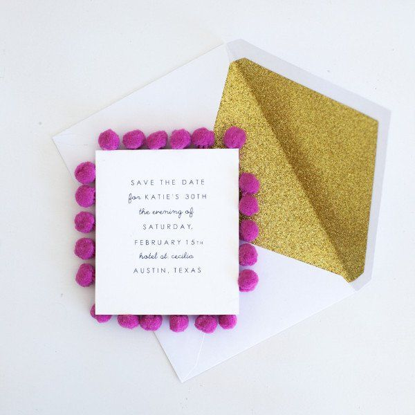 Pom Pom Custom Notecard Set