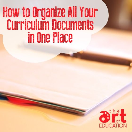 Easily Organize Your Curriculum Documents!
