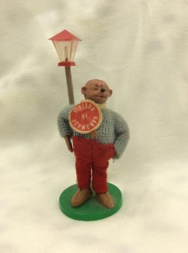 Vintage Steiff Mecki Peter Figuren Lamp Post Austria Hedgehog BALD