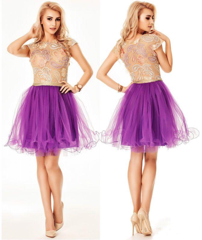 Rochie scurta Denisse Purple
