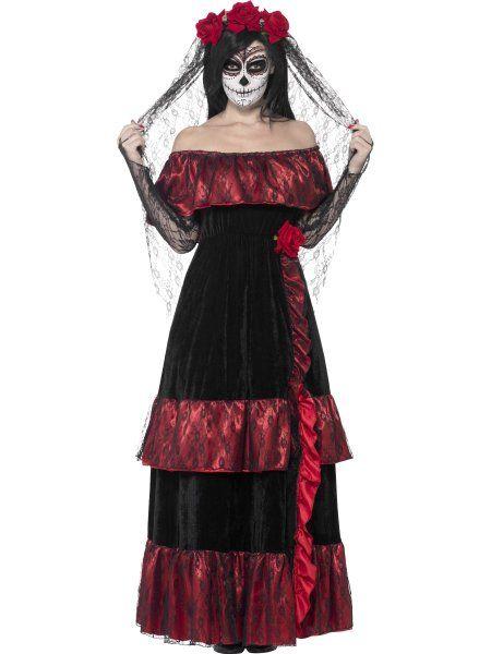 """https://11ter11ter.de/59040104.html Kostüm """"Senora Braut"""" für Frauen #Karneval #Fasching #Mottoparty #11ter11ter #Outfit #Kostüm #Partnerkostüm #Twins #TagderToten"""