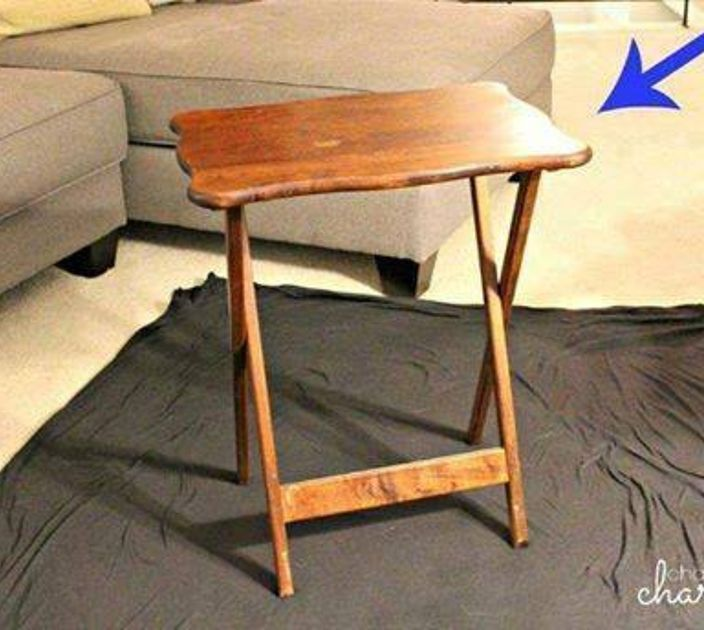 s why old tv trays are the new mason jars 11 reasons , painted furniture finishes, repurposing upcycling