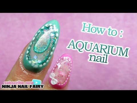 How to do an aquarium nail on the full nail | water nail - YouTube....freaking awesome, definitely going to try this!