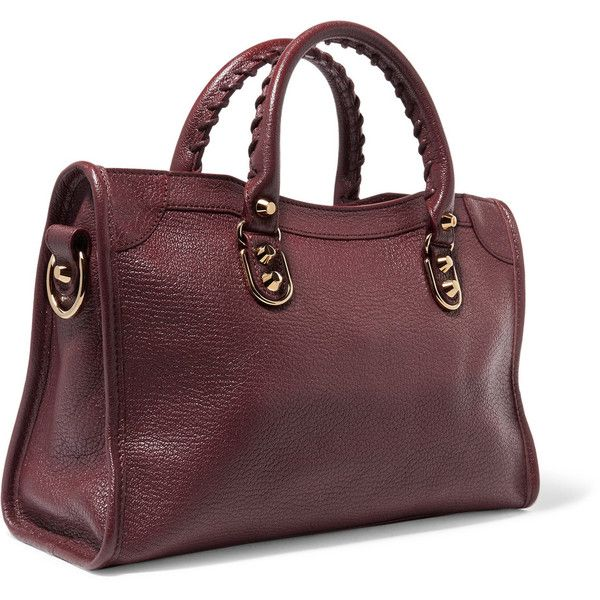 Balenciaga Metallic Edge small textured-leather tote ($1,725) ❤ liked on Polyvore featuring bags, handbags, tote bags, metallic purse, metallic tote, balenciaga tote bag, brown tote handbags and zip tote bag