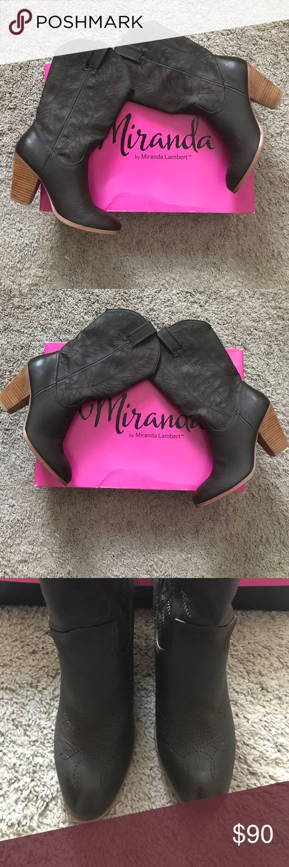 "Miranda cowgirl boots Only worn once--like new condition!  Miranda Lambert Cowgirl boots in box---3"" heel. This luscious shade of chocolate brown will go with everything you own!!! Miranda Lambert Shoes Heeled Boots"