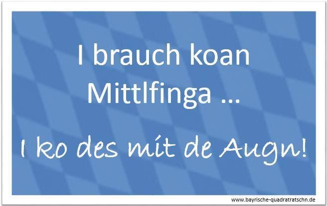 mittelfinger - Bayrische Quadratratschn