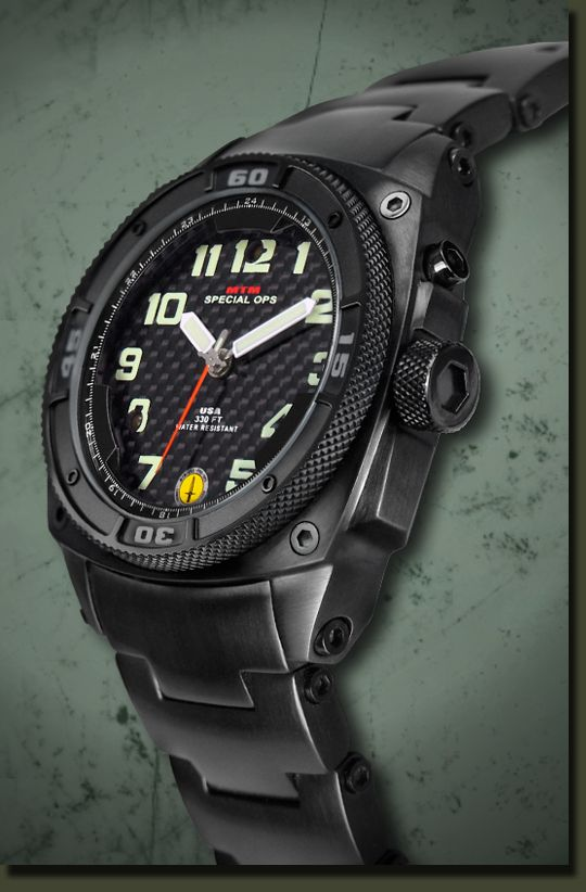 #MTMSpecialOps Black Hawk Watch is the world s first and only electromagnetic rechargeable watch with two LED lighting systems…one for dial illumination and the second for external illumination such as map reading, distress signals, etc. Sweet.