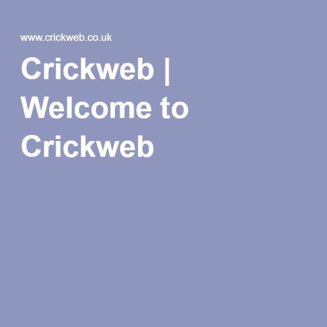 Crickweb | Welcome to Crickweb