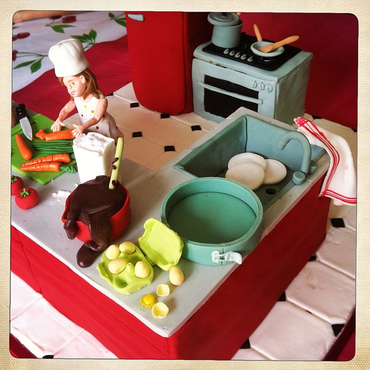 """Gâteau d'anniversaire - """"Un goûter presque parfait"""" © Karine Zablit: Karine Zablit, Easter Cakes, Goûter Presque, Un Goûter, Presque Parfait, Sculpting Cakes, Gâteau Danniversair, Gâteau D Anniversaire"""