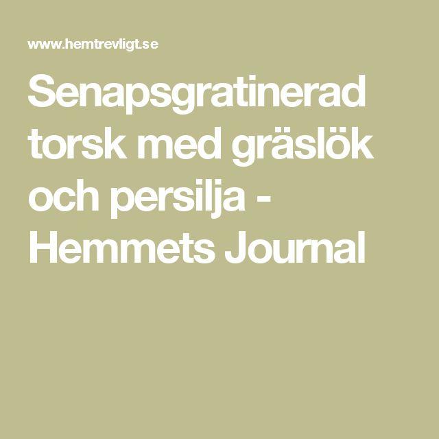 Senapsgratinerad torsk med gräslök och persilja - Hemmets Journal
