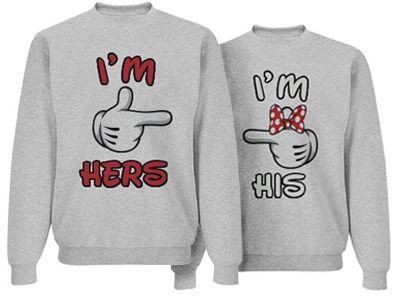 I'm Hers: Custom Unisex Basic JERZEES NuBlend Crewneck Sweatshirt - Customized Girl