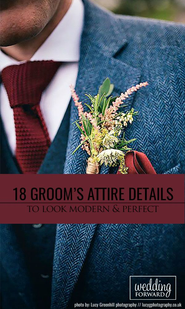 18 Modern Groom's Attire Details To Look Perfect ❤ We're gathered modern groom's attire details: suspenders, ties, socks, boutonnieres. See more: http://www.weddingforward.com/grooms-attire-details/ #weddings #groom