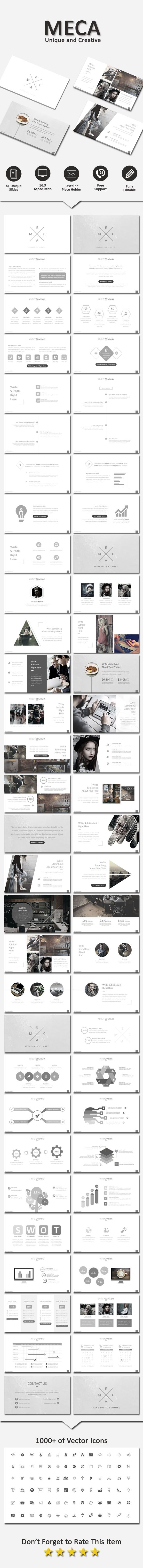 Meca Creative Powerpoint - Business PowerPoint Templates Download here: https://graphicriver.net/item/meca-creative-powerpoint/19791684?ref=classicdesignp