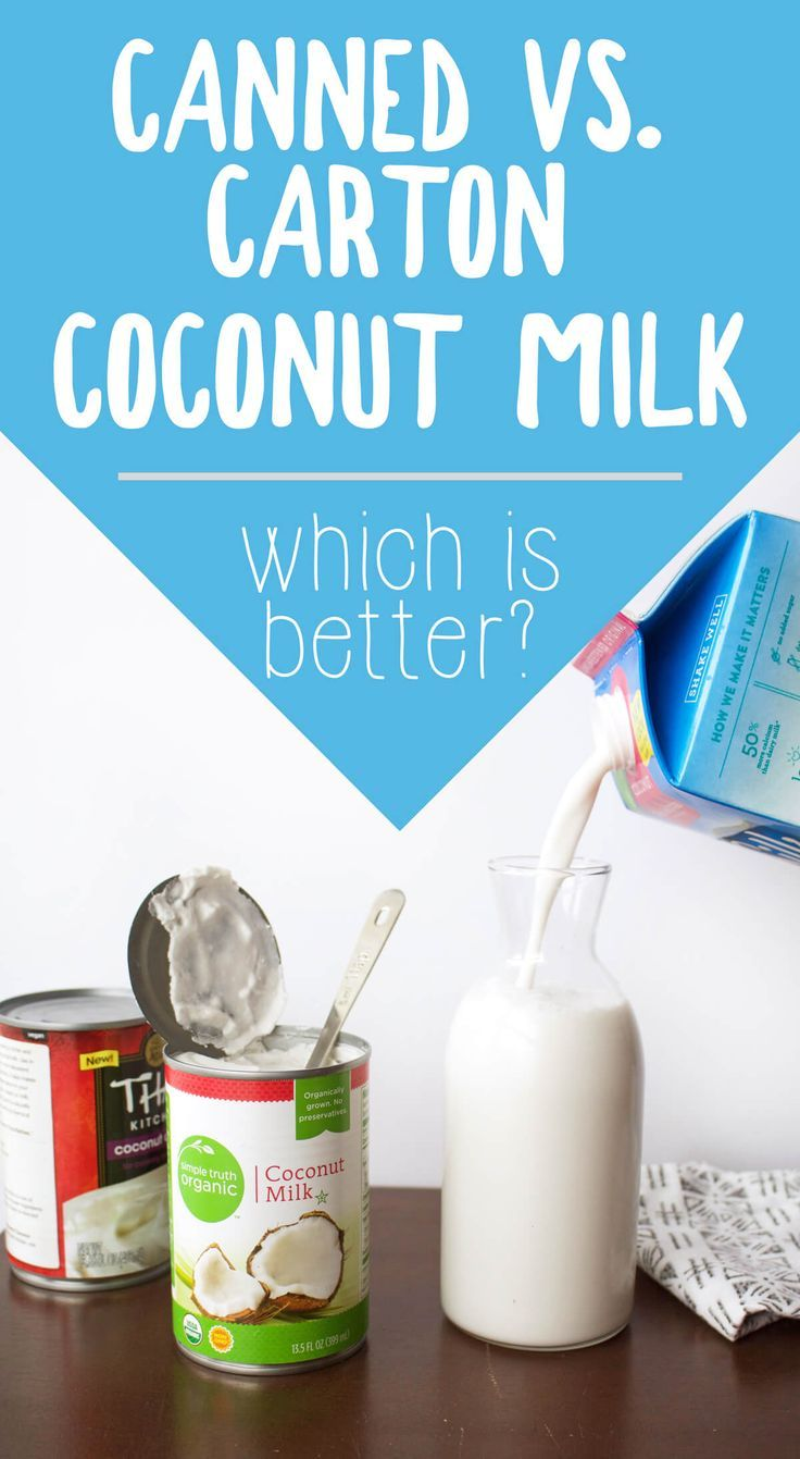 Canned vs. Carton Coconut Milk: Which is better? A breakdown of ingredients and packaging in terms of nutrition and eco-friendliness.  via @thecrunchychron