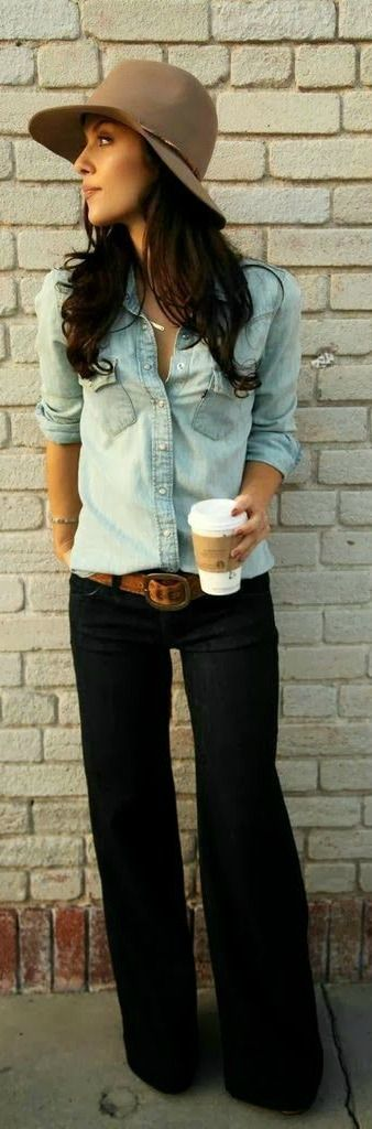 Dear Stitch Fix Stylist - EVERYTHING about this. The denim on top. Those pants!!!
