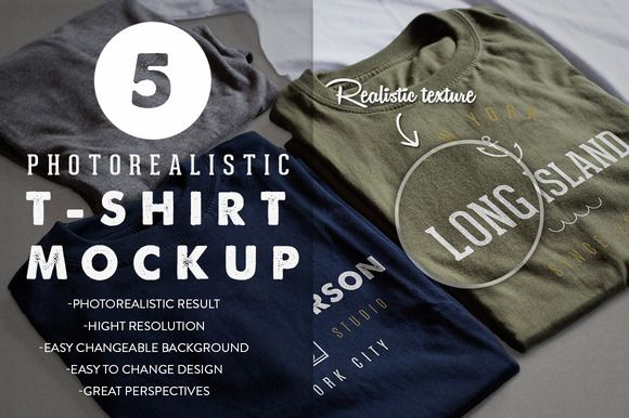 Photorealistic T-Shirt Mockup by Antonio Padilla on @creativemarket