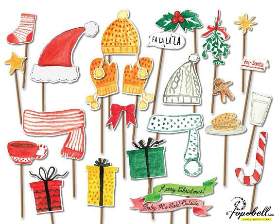 24 pieces Christmas Props for Christmas Party. Instant