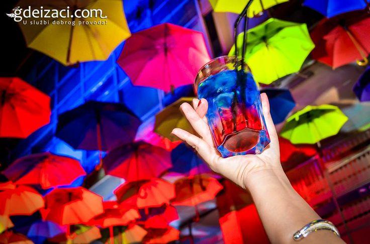 Cocktails and decoration in Caffe Bar Que Pasa in downtown #Belgrade.  www.gdeizaci.com/caffe-barovi-beograd/caffe-bar-que-pasa