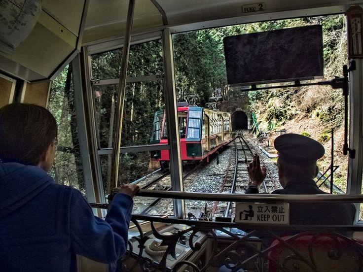 Enryakuji cable car up Mt Hiei, Japan