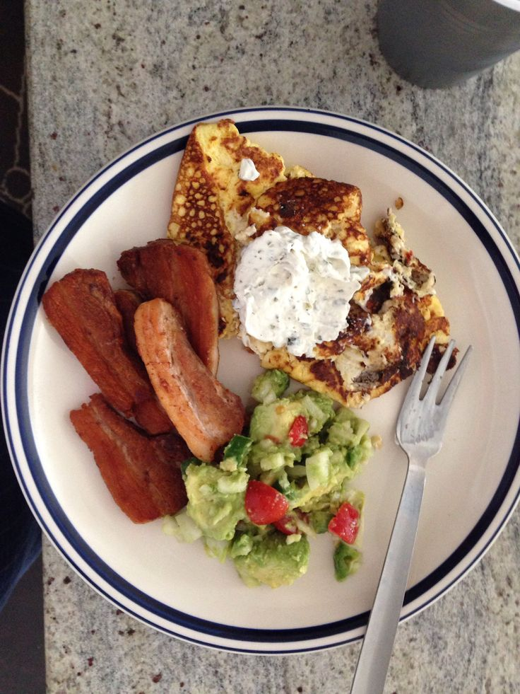 -pork belly, avocado salad (tomatoes, garlic, onions, lime juice) egg ...