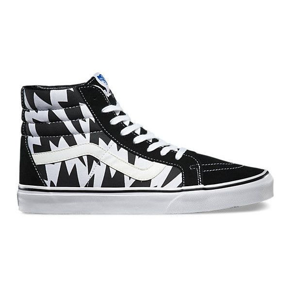 SK8-Hi Reissue ($75) ❤ liked on Polyvore featuring shoes, sneakers, waffle shoes, cushioned shoes, vans shoes, vans trainers and vans sneakers