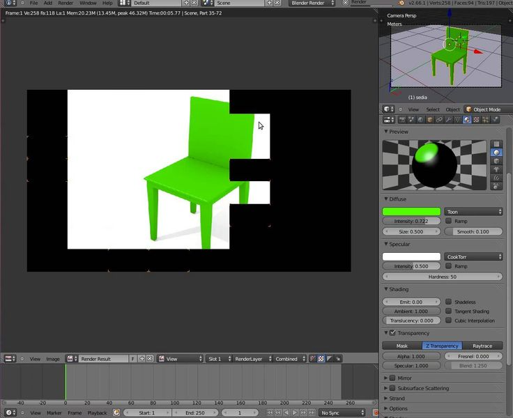 The fifth lesson to learn 3d graphic with Blender