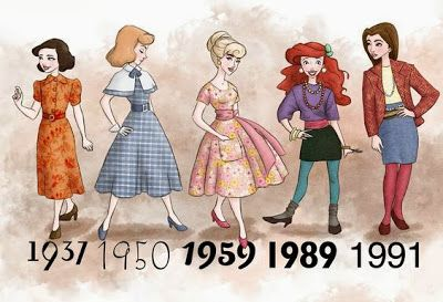 Disney Princesses Dressed in the Style of the Year Their Movies Came Out