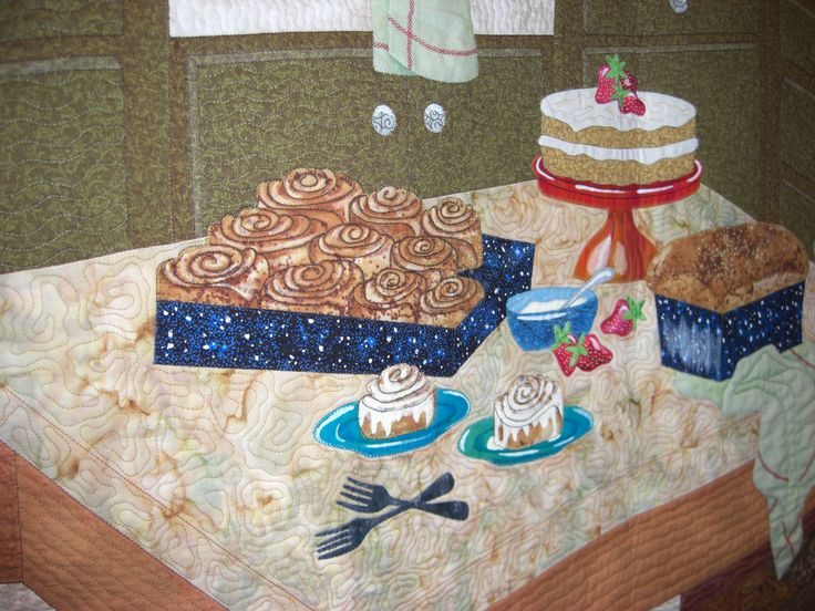You know it's good when you can smell the baking. cinnabuns quilt from Mid-Atlantic quilt festival!