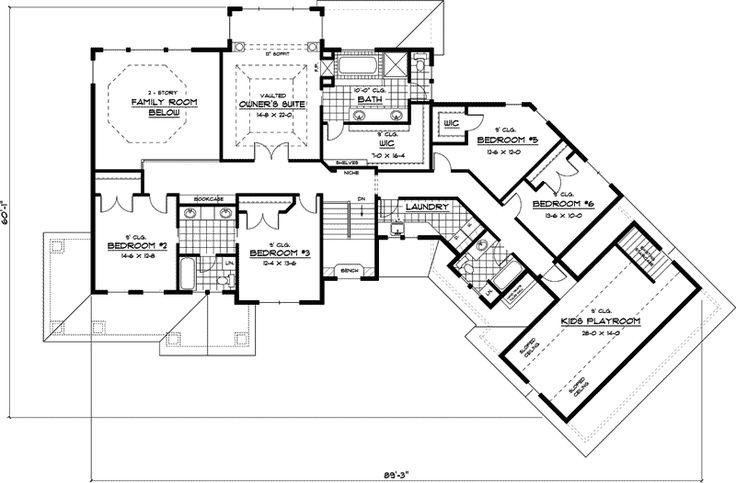 22 best house plans images on pinterest for Craftsman floorplans